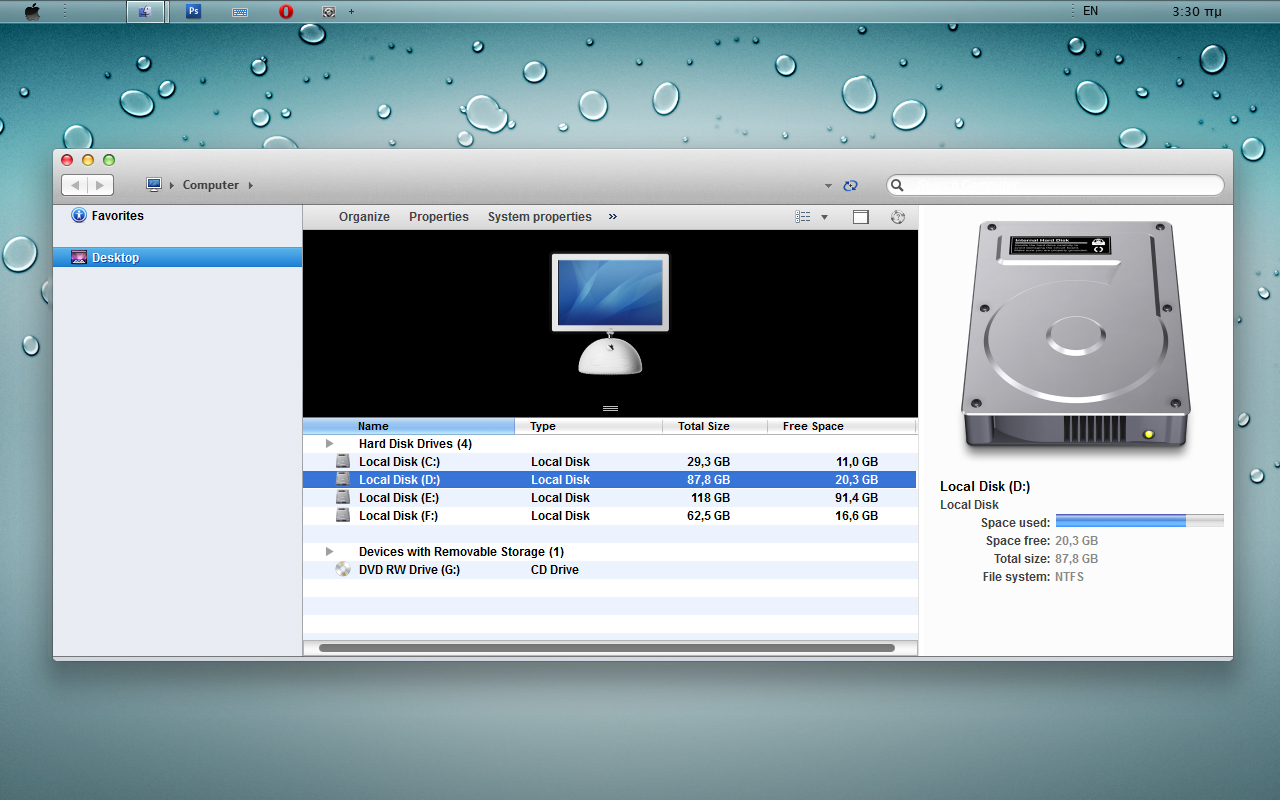 windows 7 for mac theme