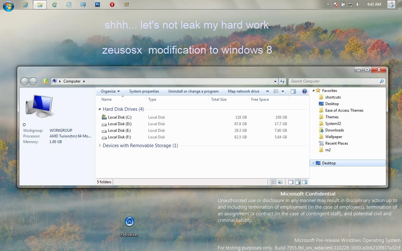 windows 8 - build 7955 mod