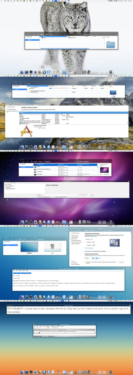 mac os X LynX Cosmocrator for windows 8.1 by ZEUSosX