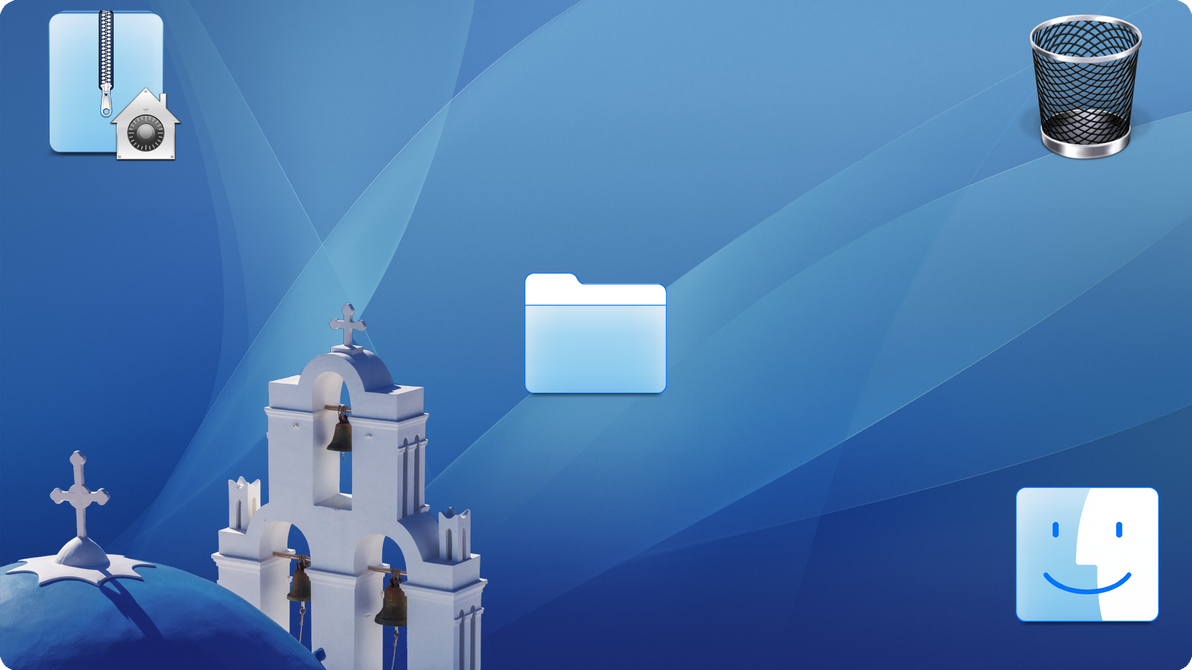 Aegean Blue os X style Icons for Windows by ZEUSosX