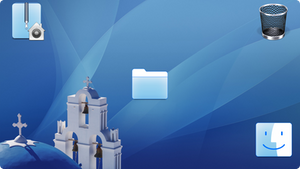 Aegean Blue os X style Icons for Windows