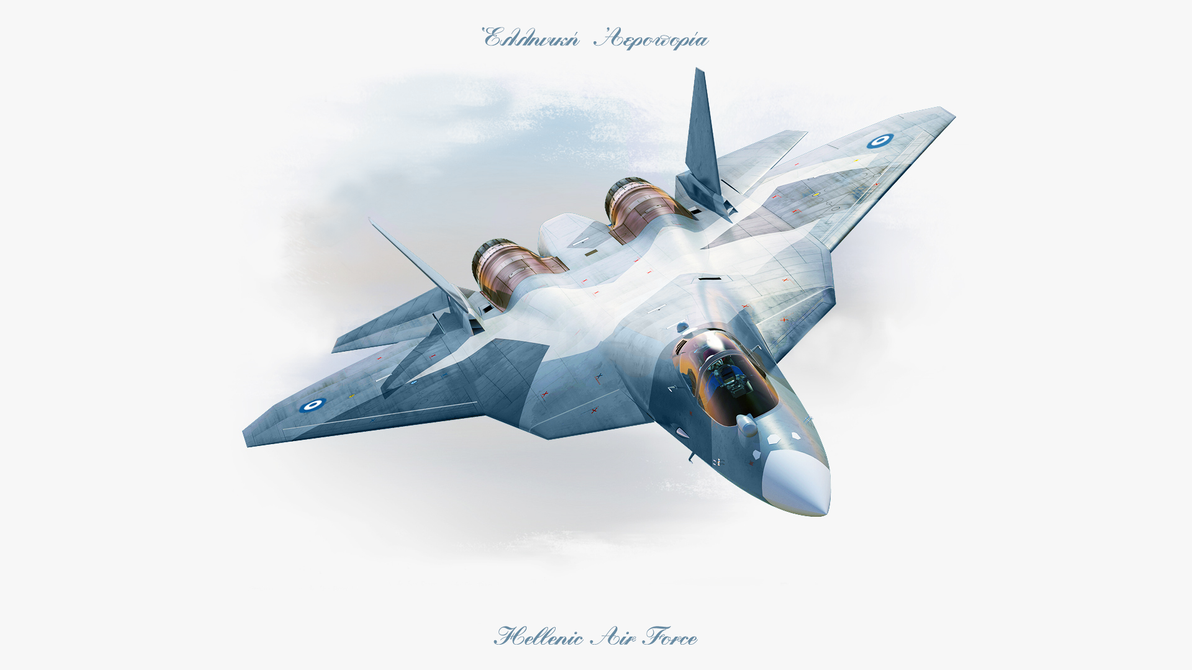 Sukhoi T-50, new with signs of Hellenic Air Force by ZEUSosX