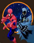 Spider Man and BatGirl