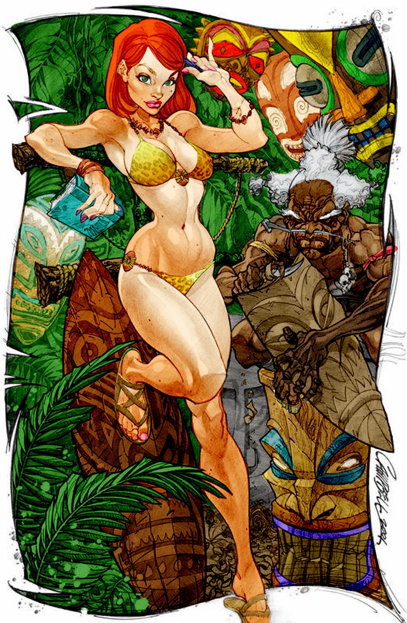 Jungle Danger Girl by DigitalDusty