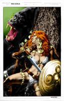 Red Sonja vs. Kong by DigitalDusty