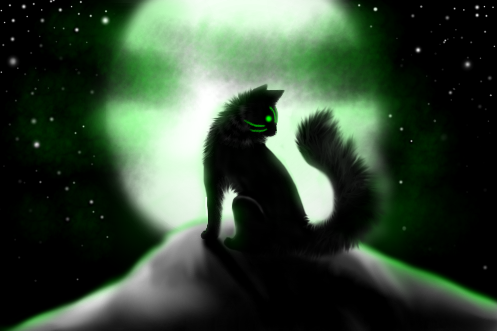 I am the shadow on the moon at night by SironaWolf