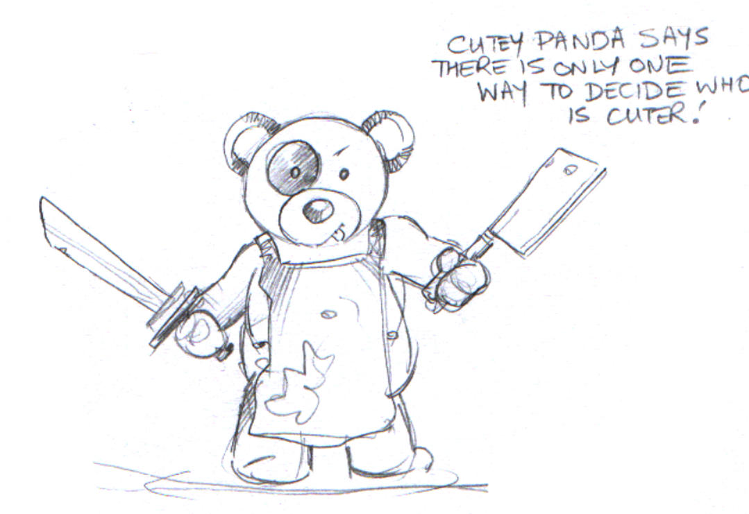 Awesome drawings of cute pandas