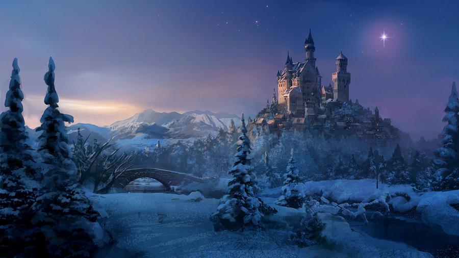 Castle at night by JoachimB