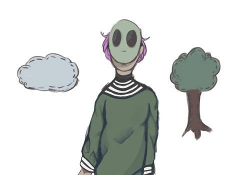 o look its a smol alien