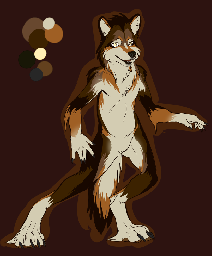 Wolf Anthro Boy Anthro Design Mexican Wolf by