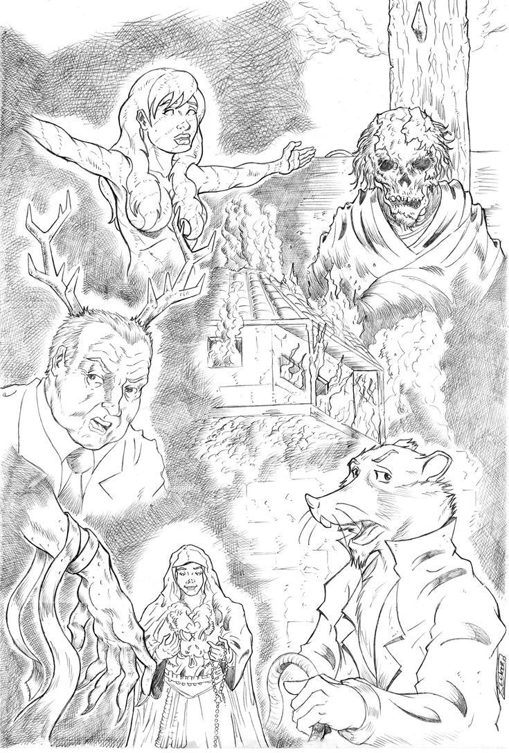 Nomada comic cover pencil by HEATSEEKERMAN