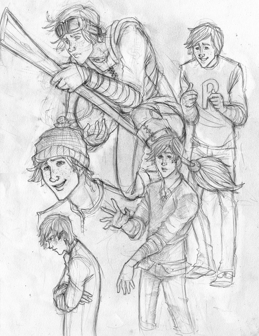 Character Sheet: Ron Weasley by Catching-Smoke