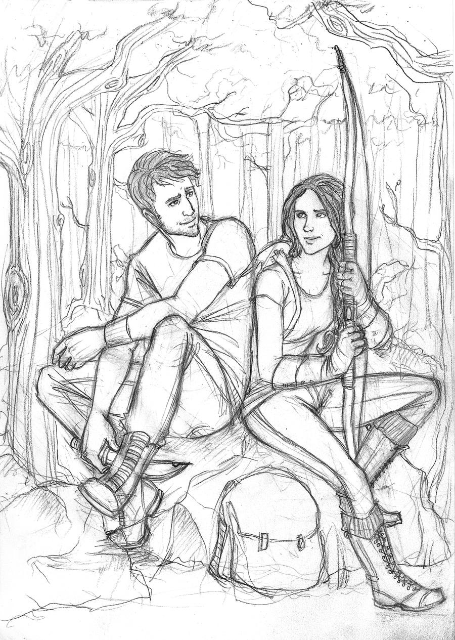 hunger games printable coloring pages | The Hunger Games: Hunting by Catching-Smoke on DeviantArt