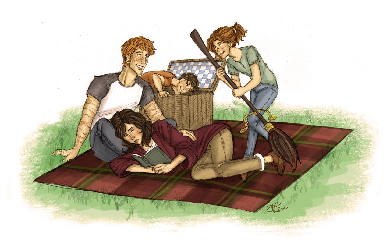 Commission: A Weasley Picnic by Catching-Smoke