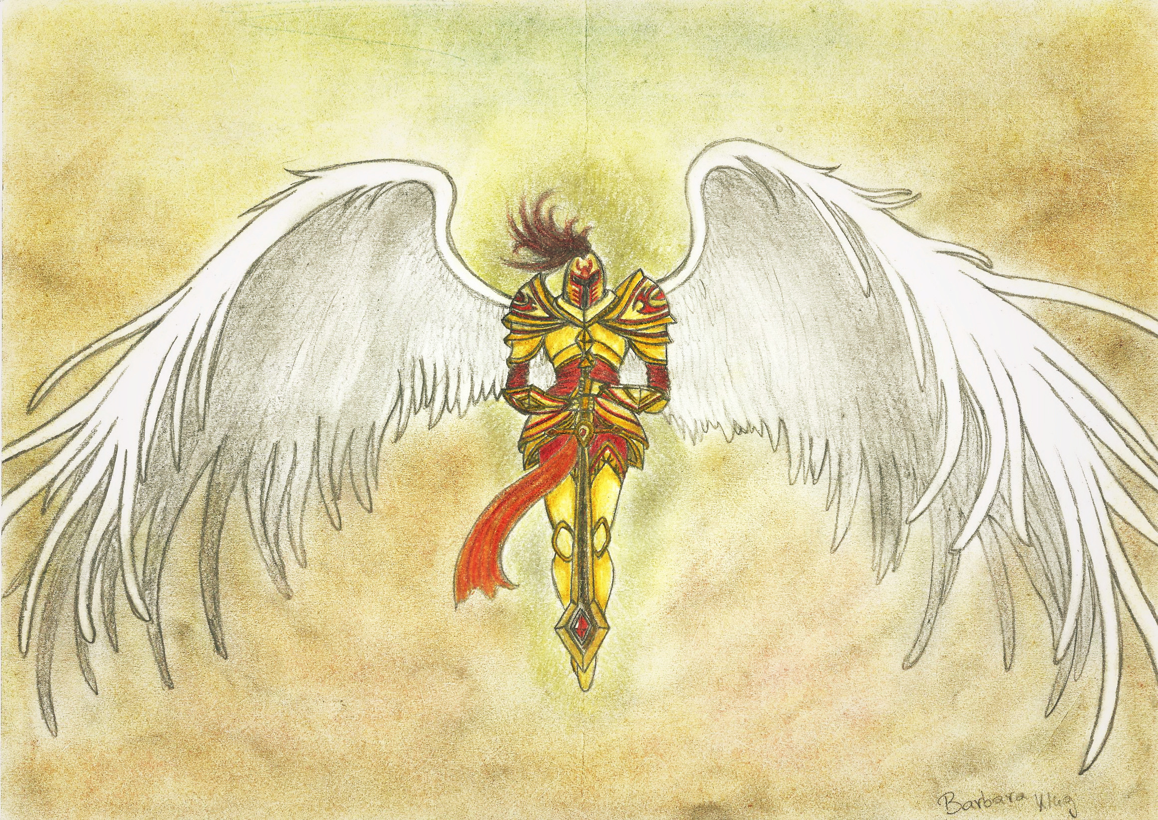 league of legends kayle the judicator colored by cita555 on