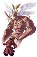 Ascending God of War by MelUran