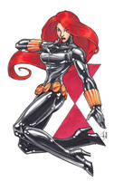 Black Widow con sketch by MelUran
