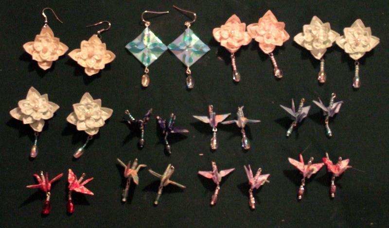 Origami jewelry by *MelUran on