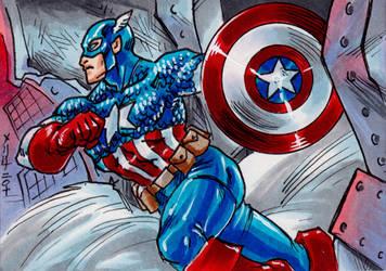 Classic Captain America by MelUran