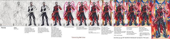 Dr. Strange +Copic+ card art tutorial by MelUran