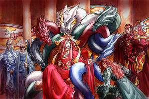 The Scarlet Throne by MelUran