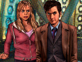 Doctor Who: Ten and Rose Tyler by tygerbug