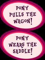 Pony Pulls the Wagon by tygerbug