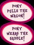 Pony Pulls the Wagon