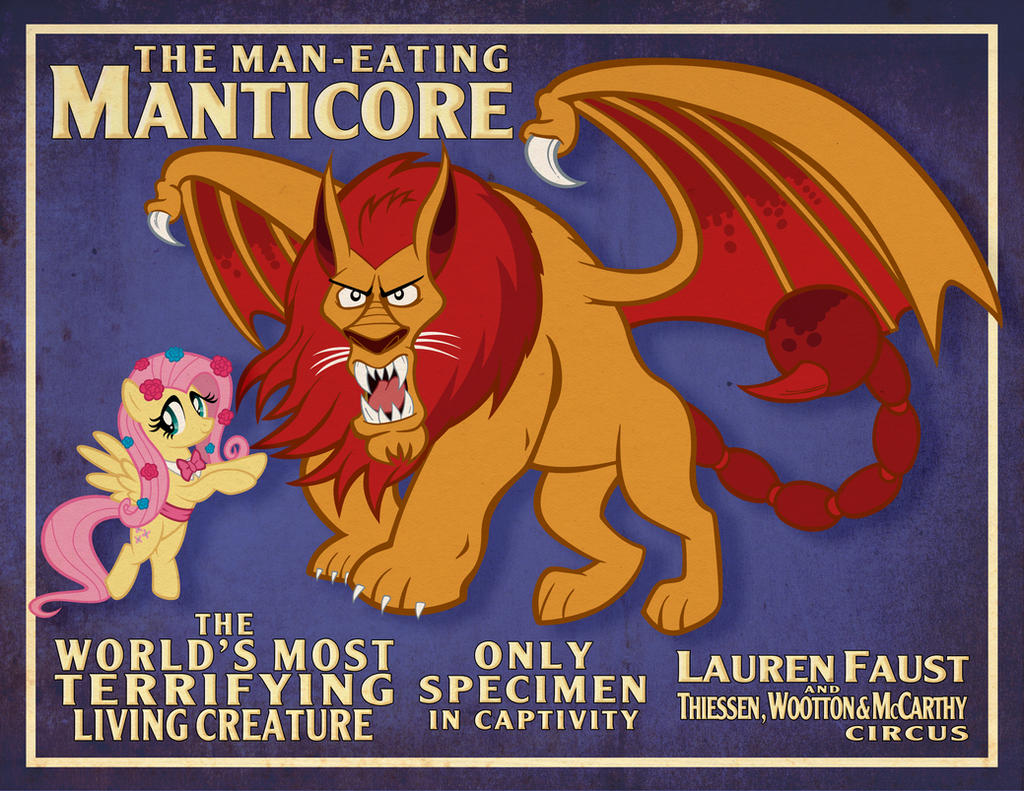 Man-Eating Manticore Poster by tygerbug on DeviantArt