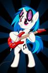 Vinyl Scratch Rocking Poster
