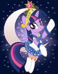 Sparkle Moon Print