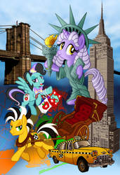 Big Apple Ponycon poster (No text)