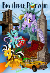 Big Apple Ponycon poster (with Text) by tygerbug