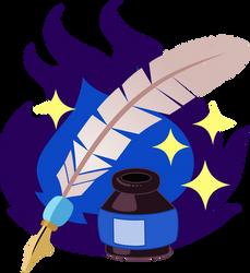 Dark Quill Cutie Mark by tygerbug