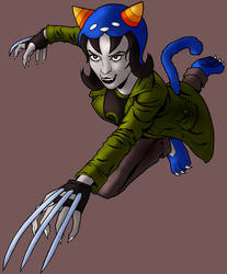 Nepeta Leijon Attacks (color) by tygerbug