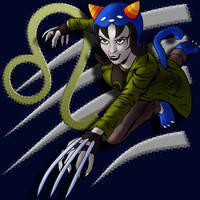Nepeta Leijon Attacks (color w symbol) by tygerbug