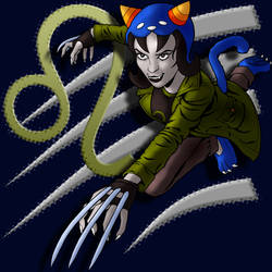 Nepeta Leijon Attacks (color w symbol) by tygerbug