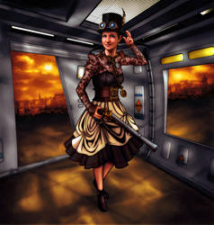 Steampunk - Lady Kaledonia by tygerbug
