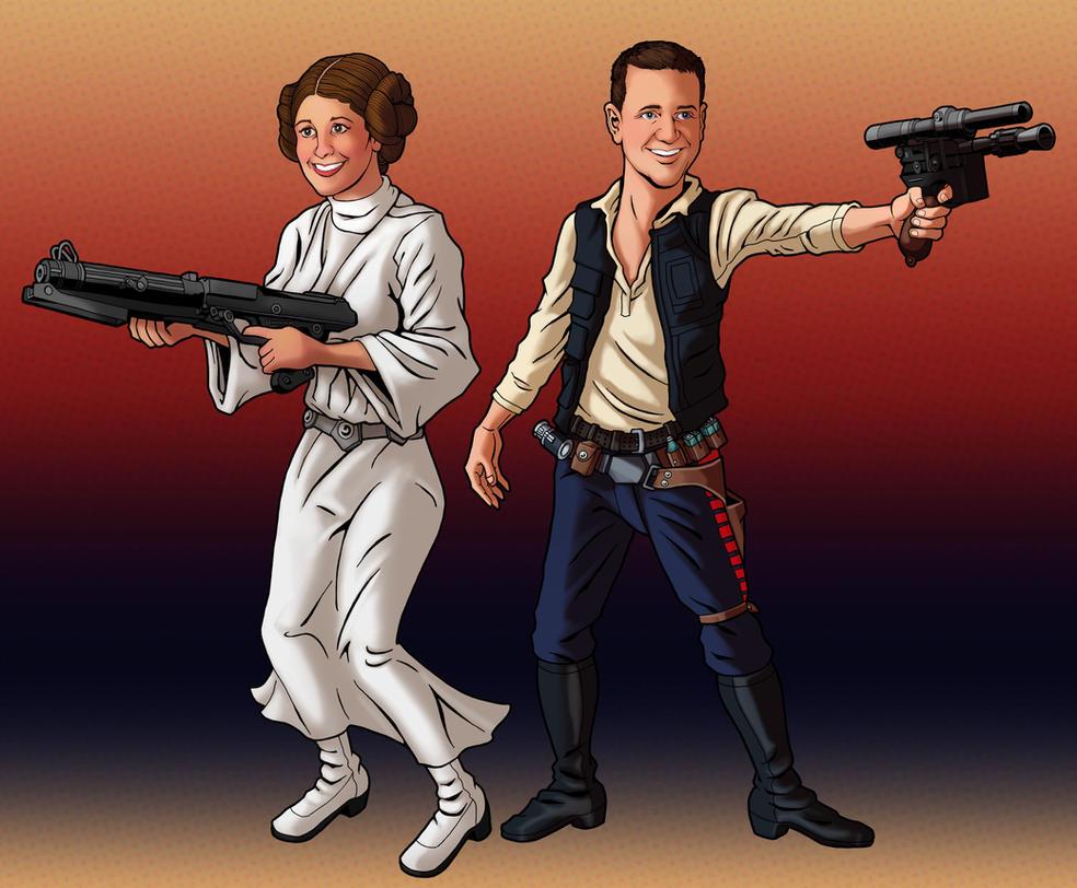 Han and Leia: The Cosplay Awakens by tygerbug