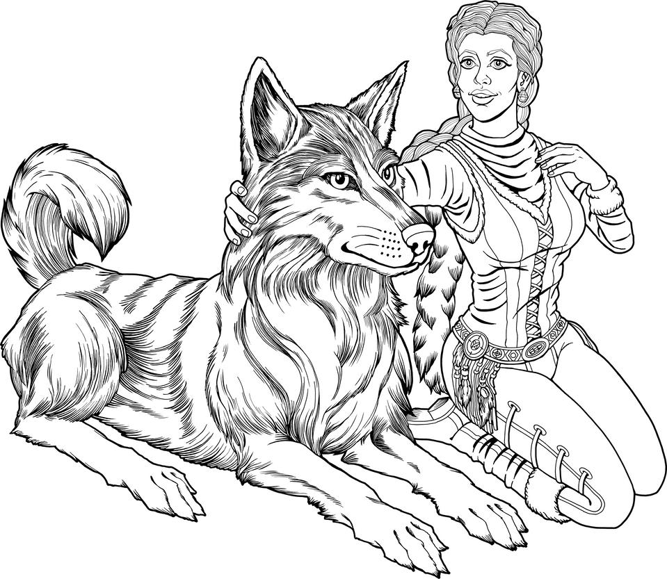 Wolf Woman by tygerbug