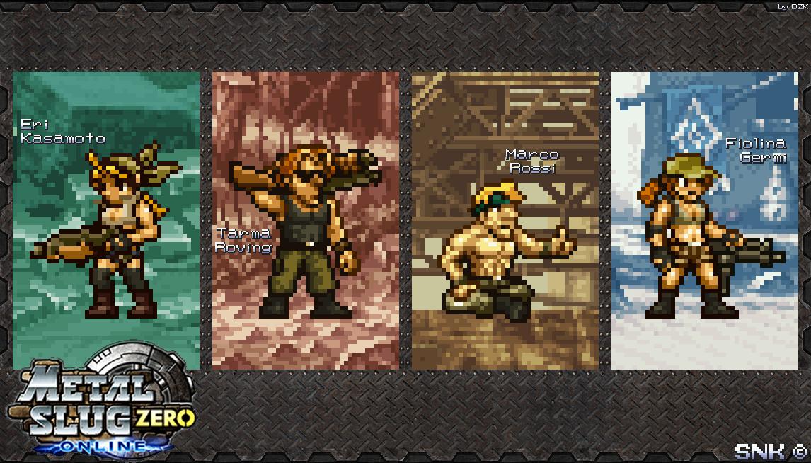 Main Characters (Metal Slug Zero) by APR01-DeZKan on DeviantArt