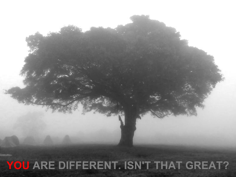 You are different. Isn't that great? by nevit