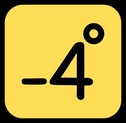 Minus 4 degrees