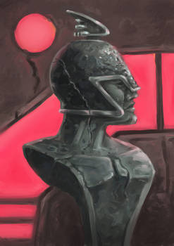 Neon Classical Bust
