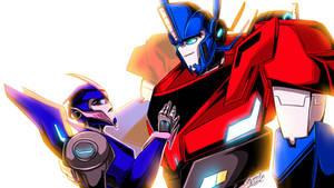 Commish-Optimus/Arcee Where Did the Road Take You?