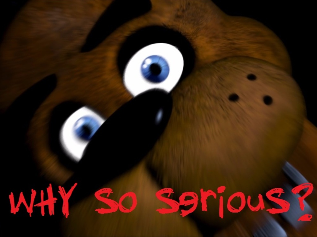 Freddy why so serious 1024x768 fnaf by thechaos00 on deviantart