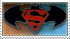 Batman and Superman stamp