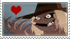 Scarecrow Heart Stamp by DaRk-Stamps