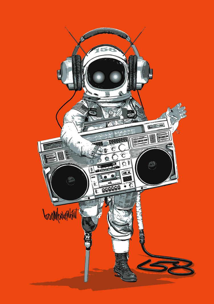 BOOMBOXANAUT by obxrussell