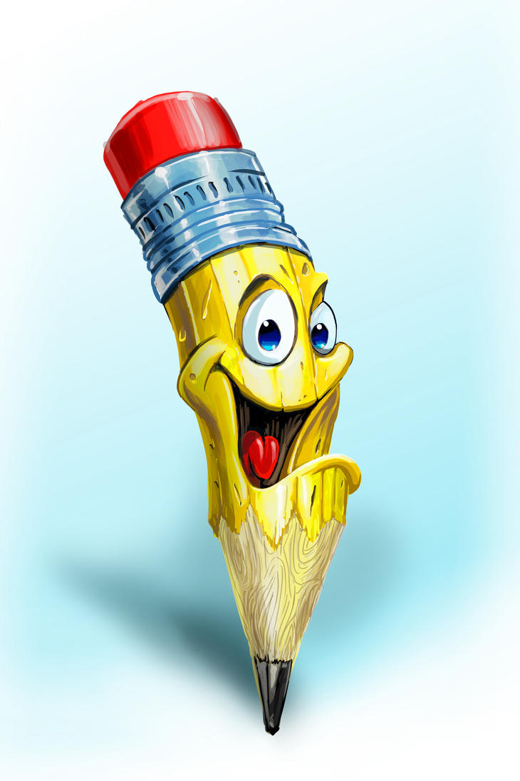 Happy Pencil by obxrussell